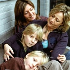 Lesbian couple with two kids