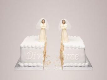Lesbian divorce cake