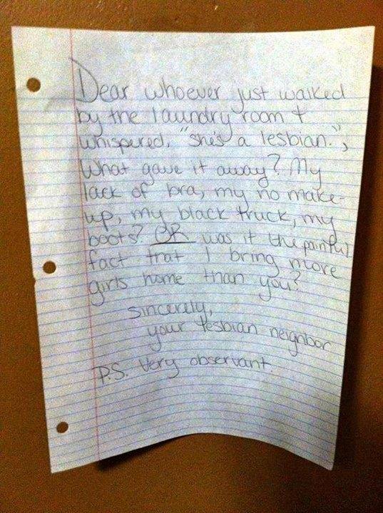Lesbian letter