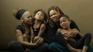 African American lesbian parents with kids