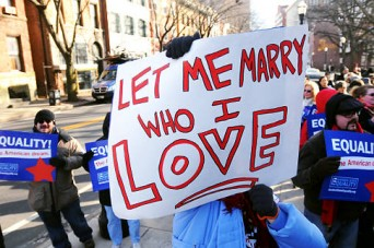 Let me marry who I love sign