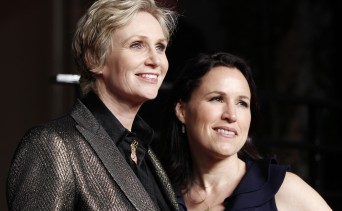 Jane Lynch and Laura Embry