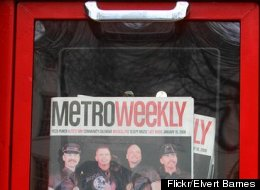 Metro Weekly magazine distribution box