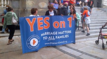 Maine United for Marriage rally