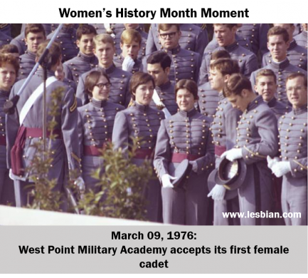 West Point's first female cadets