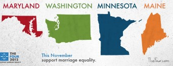 Marriage equality states 2012