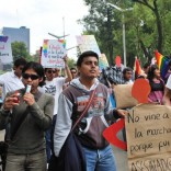 Marriage equality march in Mexico