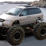 Minivan with large tires