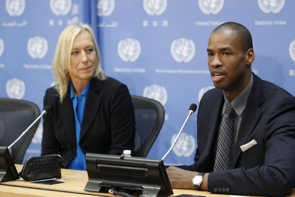 Martina Navratilova and Jason Collins on U.N. panel
