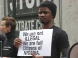Nigerian LGBT protestor