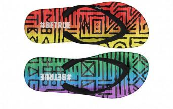 Nike Be True campaign flip flops