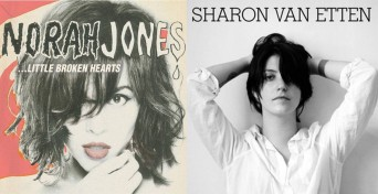Norah Jones and Sharon Van Etten LP covers