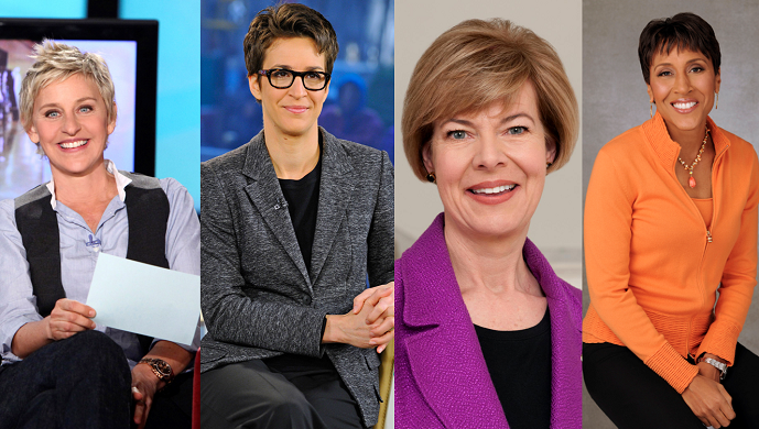 DeGeneres, Maddow, Baldwin and Roberts