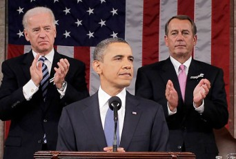 Obama, Biden and Boehner at State of the Union address