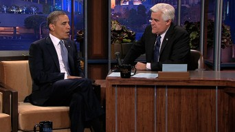 President Obama on the Jay Leno show