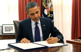 Obama signing document