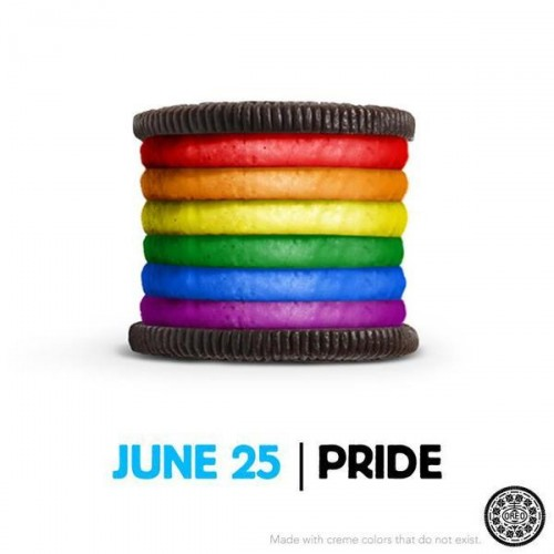 Kraft Foods posts photo of rainbow Oreo in celebration of LGBT Pride