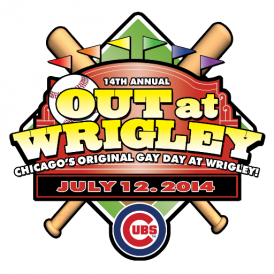 Out at Wrigley 2014 logo