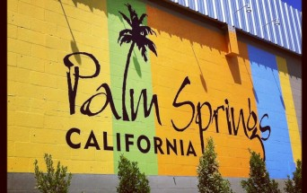 Palm Springs, California colorful sign on building