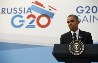 President Obama at G20 summit in Russia