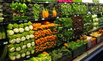 Produce aisle at grocery store