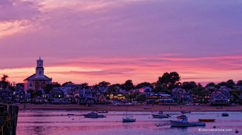 Sunset over Provincetown MA