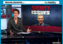Rachel Maddow accuses Scott Brown of making stuff up about her