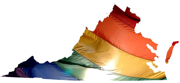 Virginia rainbow flag