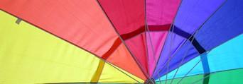 Rainbow parachute