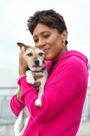 Robin Roberts with her dog