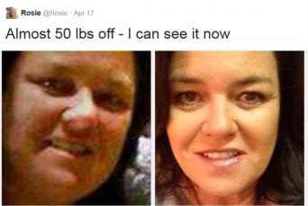 Rosie weight loss Twitter