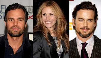 Mark Ruffalo, Julia Roberts and Matt Bomer