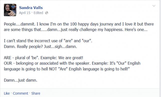 Sandra Valls grammar post