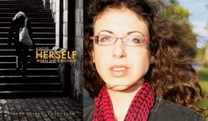 "Sarah Terez Rosenblum and ""Herself When She's Missing"" book cover"
