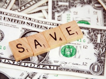 "Money with the word ""save"" on top"