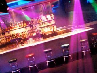 The bar at Sisters Nightclub