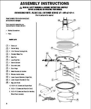 Smoker assembly instructions