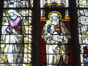 Stained glass in St. Andrew's Church in England