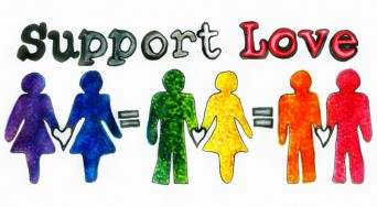 Support Love logo with rainbow colors