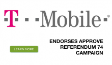 T-Mobile endorses Washington's Referendum 74