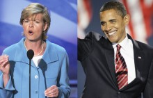 Tammy Baldwin and Barack Obama