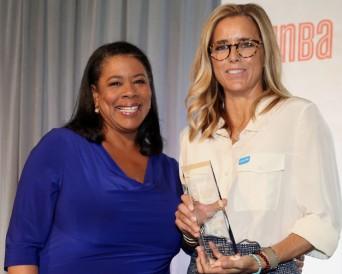 WNBA President Laurel J. Richie and Téa Leoni