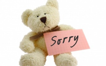 Teddy Bear with a sorry note