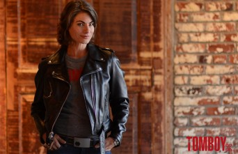 Traci Dinwiddie TomboyX leather jacket