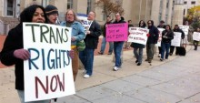 Transgender rights protest