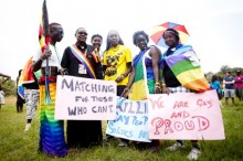 Ugandan LGBT community shows pride despite risk