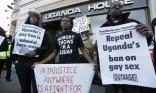 Ugandan LGBT protesters