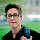 Graphic artist Alison Bechdel