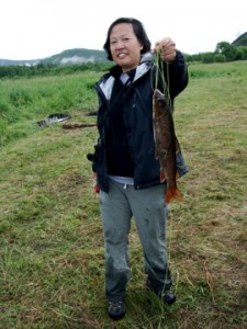 A beautiful catch by Chef Anita Lo in Mongolia. (Photo: Courtesy of Anita Lo)