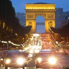 Arc de Triomphe Champs Elysees in Paris France